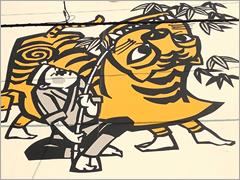 虎舞の切り絵